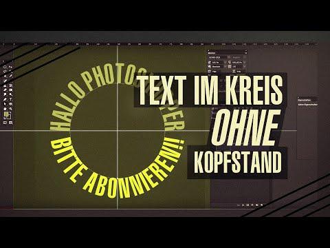 Text Im Kreis Ohne Kopfstand - Photoshop Tutorial (1080p@60fps)