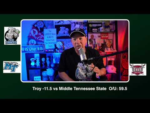 Troy vs Middle Tennessee 11/21/20 Free College Football Picks and Predictions CFB Tips Pick Dawgz