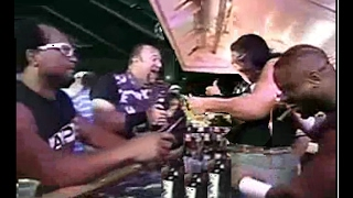 bar room brawl apa vs dudleys later on they drink  and run into some friends wwf 9700