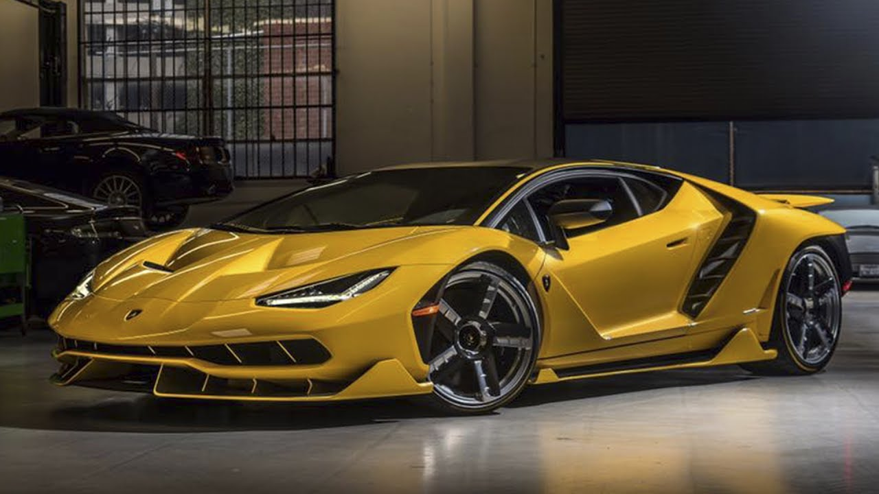 3 New Lamborghini Centenario Lp770 4 Delivered Yellow Red