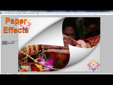 Photoshop tutorial, Paper folding effects in Photoshop, Photoshop Paper tear effect