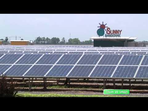 Asean Go Green - Solar power energy -- renewable energy (Tha