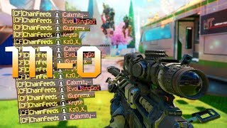 FLAWLESS 111 KILLS SNIPING HIGHEST STREAKS! Locus Gameplay (Black Ops 3)