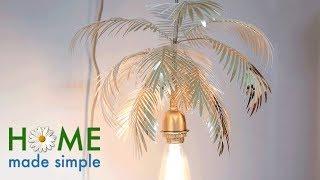 Brass Paper Palm Night Light   Home Made Simple   Oprah Winfrey Network
