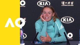 Caroline Wozniacki press conference (1R) | Australian Open 2019