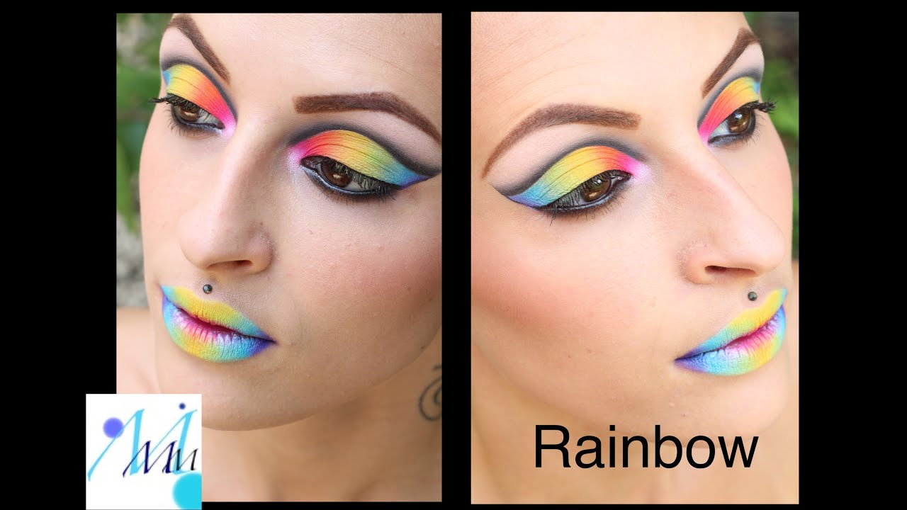 maquillage color color make up eyes lips rainbow make up tutorial - Colori Maquillage