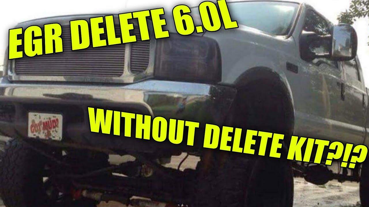 how to egr delete 6.0