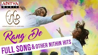 Rang De Full Song | A Aa Telugu Movie | Nithiin, Samantha, Trivikram, Mickey J Meyer