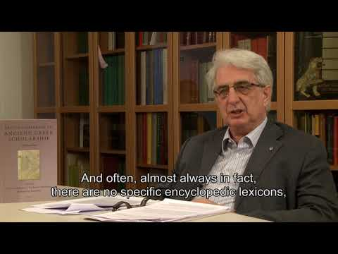 About the lexicon - Franco Montanari interview on Lexicon of Greek Grammarians (1/6)
