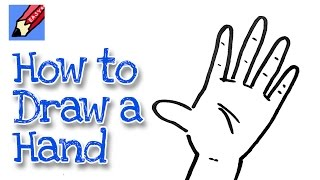 How to draw a Hand Real Easy - for kids and beginners