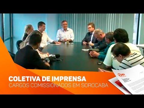 Coletiva de Imprensa Cargos comissionados em Sorocaba  - TV SOROCABA/SBT