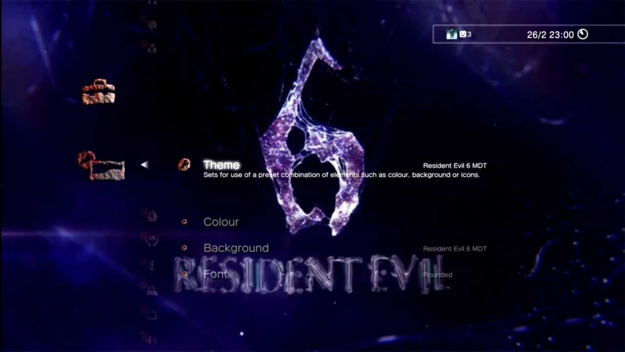 Ps3 Themes Resident Evil 6 Animated Blue Version