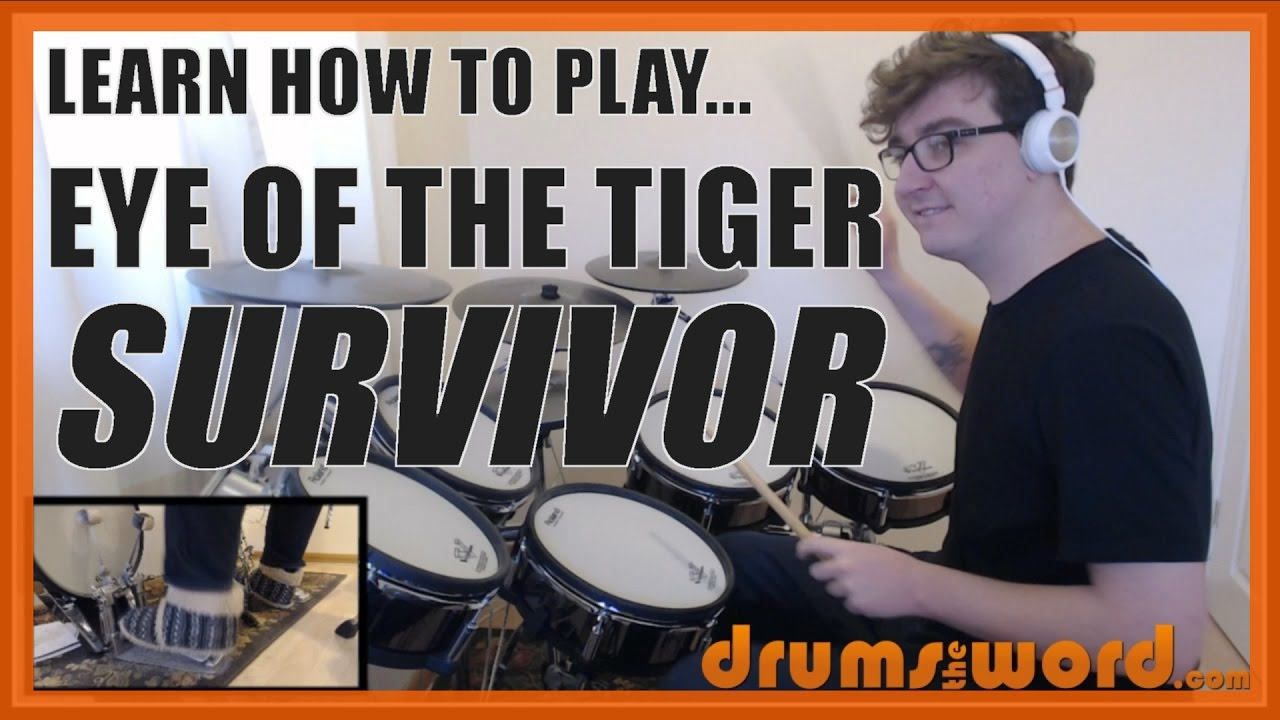 Eye Of The Tiger Survivor Drum Lesson Preview How To Play Song Marc Droubay Youtube