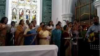 stuthi andrews singing paraloka thandeye at st andrews church sunday aug 5th 2012