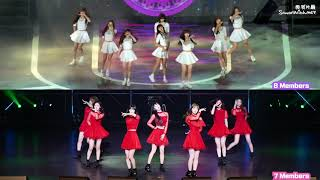 OH MY GIRL (오마이걸) Closer 由8人變7人舞蹈比較 dance comparison after JinE Left 退團 Change from 8 to 7 members