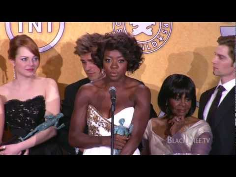 Viola Davis and the cast of The Help on their SAG Award Win