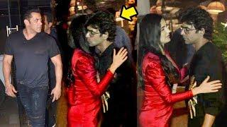 Salman Khan gets JEALOUS as Gf Katrina Kaif HUGS A Stranger At Bharat Movie Wrap Up Party