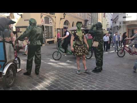 Green polite men (Вежливые Люди). Tallinn 2017