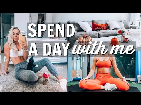 fall decorating, school + arm workout | DAY IN MY LIFE