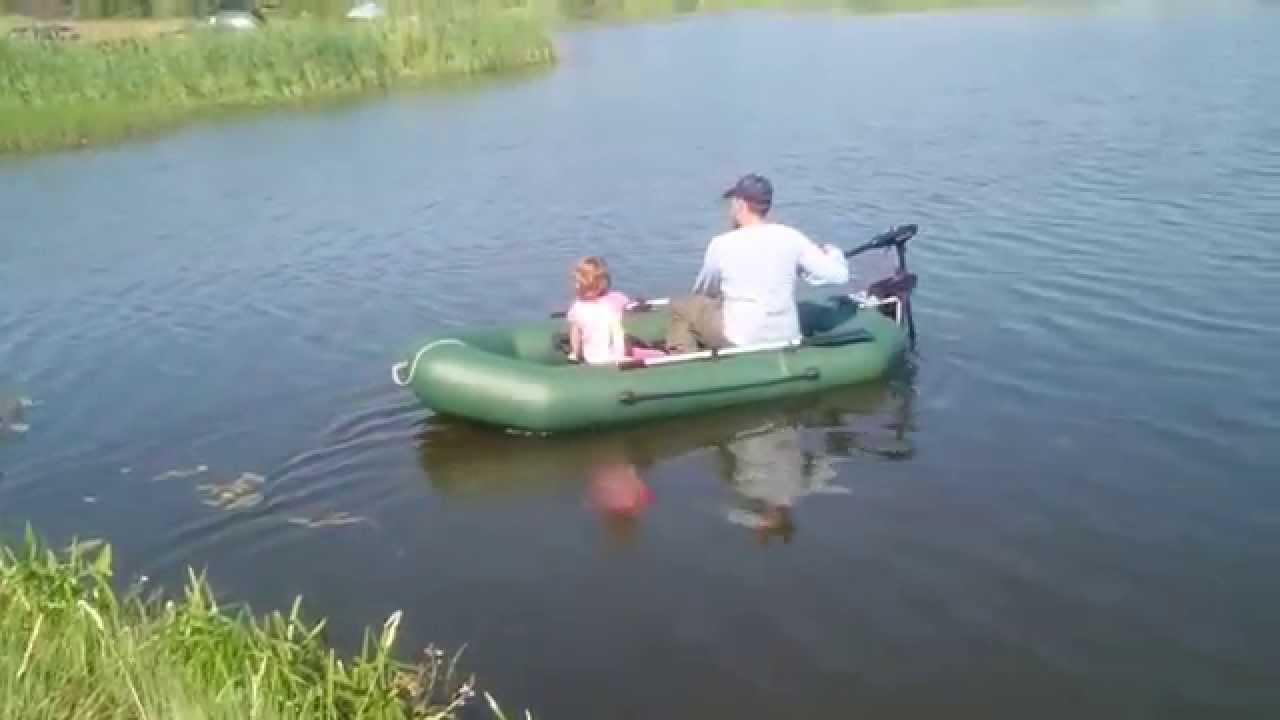 Прогулка на лодке с мотором. Часть 2 - YouTube