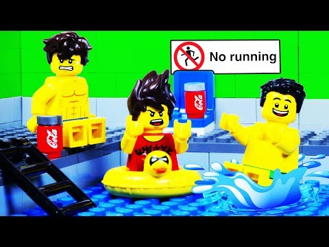 Lego Swimming Pool Fail - Lego City