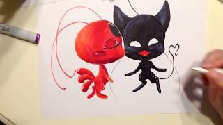 "Tikki and Plag kiss / Miraculous LadyBug (Тикки и Плаг из мультика ""Леди Баг и Супер кот"")"