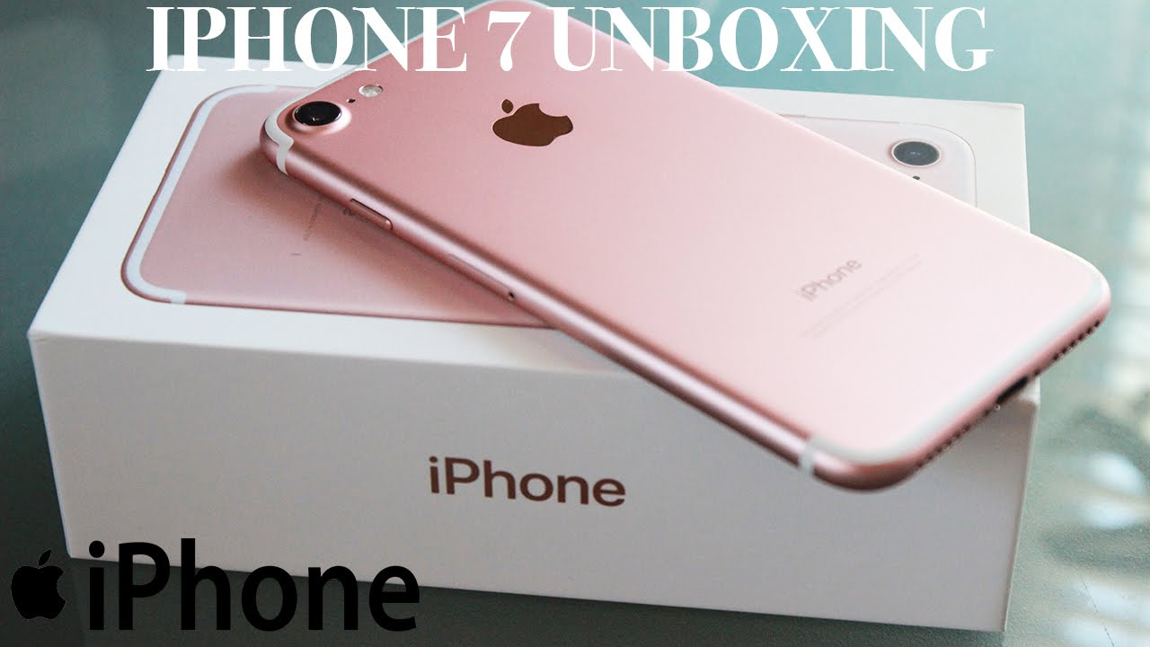 iphone 7 rose gold unboxing first look waterproof youtube. Black Bedroom Furniture Sets. Home Design Ideas