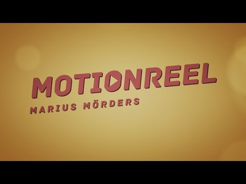 Motion Graphics Demo Reel 2017 - Marius Mörders