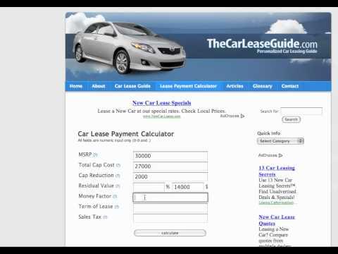 Car Lease Calculator - YouTube