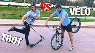 ON ÉCHANGE NOS SPORTS ! (TROTTINETTE VS VÉLO) Ft Aurélien Fontenoy