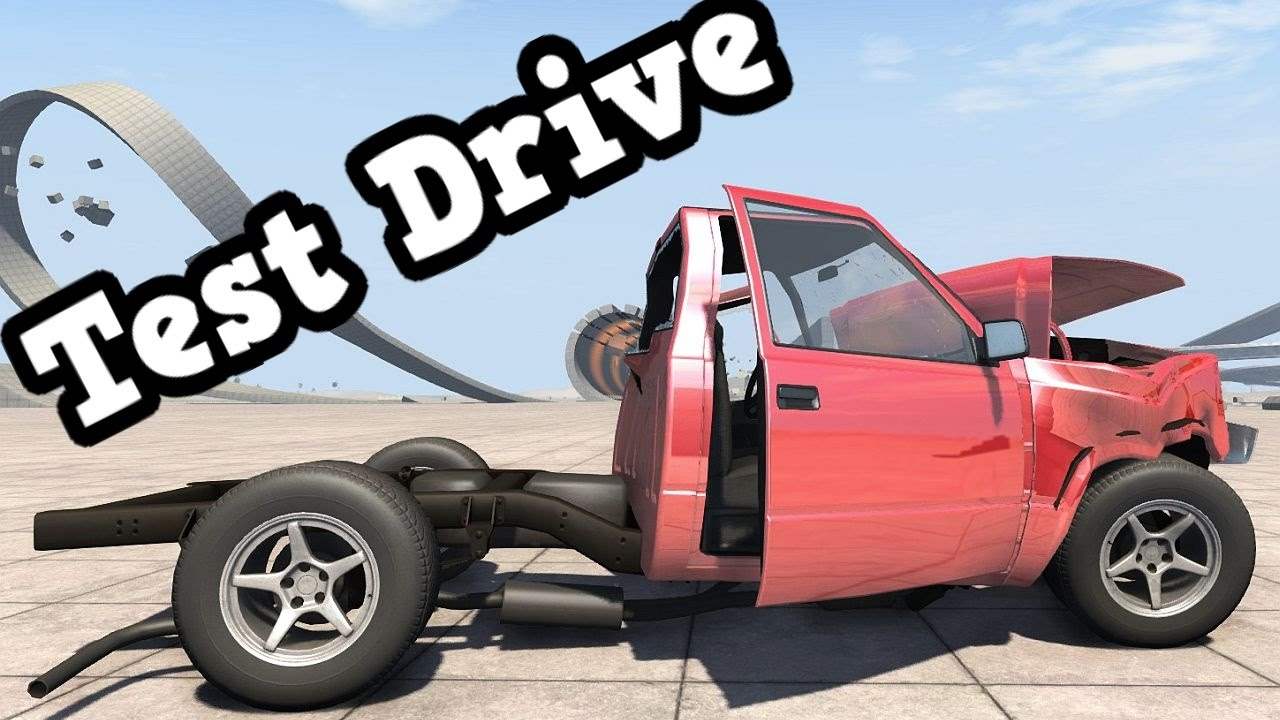 Beamng Drive Pickup Truck Without Bed Test Ended With A Crash