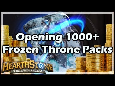 [Hearthstone] Opening 1000+ Frozen Throne Packs