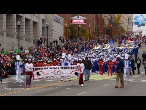 Tennessee State University Marching Band @ the 2016 Nashville X-Mas Parade  In 4K 