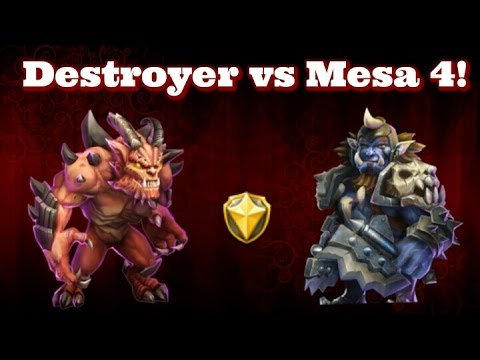 Castle Clash Destroyer Vs Mesa 4!