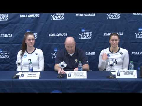 Concordia-St.Paul post match press conference after 2016 NCAA DII Volleyball Semifinal No. 2