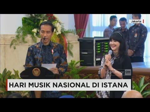 Presiden Joko Widodo & Musisi Tanah Air Peringati Hari Musik Nasional di Istana