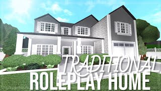 Traditional Roleplay Home | 110k | Roblox Bloxburg Speedbuild