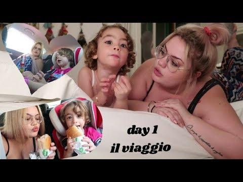 VIAGGIO IN MACCHINA CON MIA FIGLIA | day 1