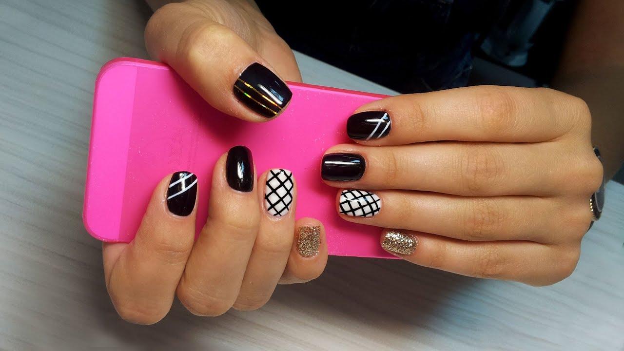 Дизайн ногтей черный гель лак