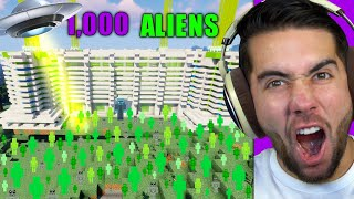 I Built The World's STRONGEST Alien Defense In Minecraft (4,000 Aliens)