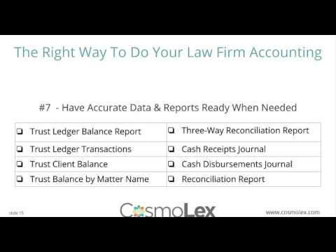The Right Way to Do Law Firm Accounting | CosmoLex Webinar