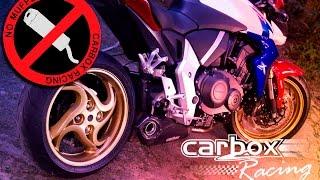 ponteira escapamento sistema no muffler cb1000r carbox racing