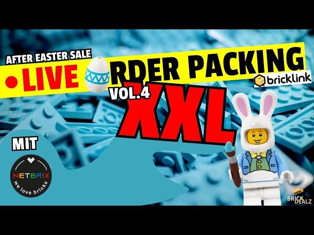 🔴 LIVE XXL 🥚RDER PACKING VOL.4 | 12 Bestellungen packen!! | Zu Gast NETBRIX