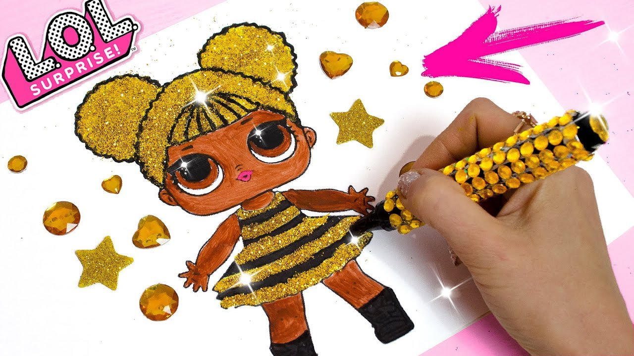 How To Draw Lol Surprise Doll Glitter Queen Bee Drawing Painting