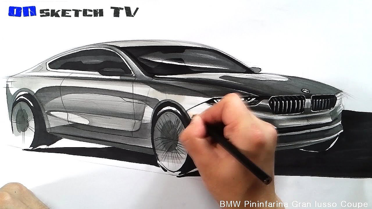 온스케치 Tv Car Sketch Bmw Pininfarina Gran Lusso Coupe Sketch