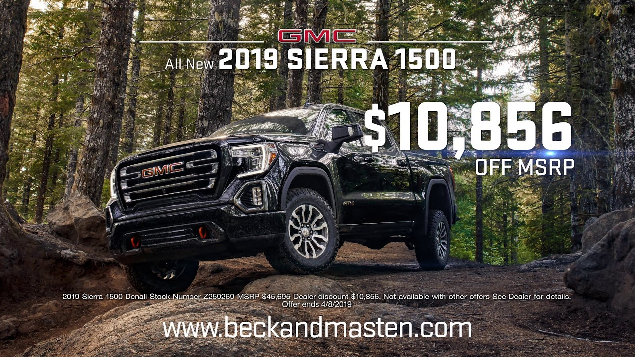 2018 Buick Gmc Truck Month Houston Texas Beck And Masten South