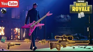 John Wick with the New Rock n Roll Emote - Fortnite Battler Royale!