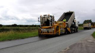 Road Surface Dressing - Application of Bitumen Binder - Yorkshire