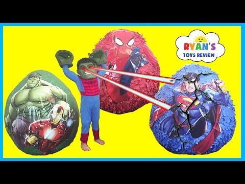 Thumbnail: GIANT EGG SURRPISE OPENING Spiderman Superman The Hulk SuperHeroes Toys for Kids Video