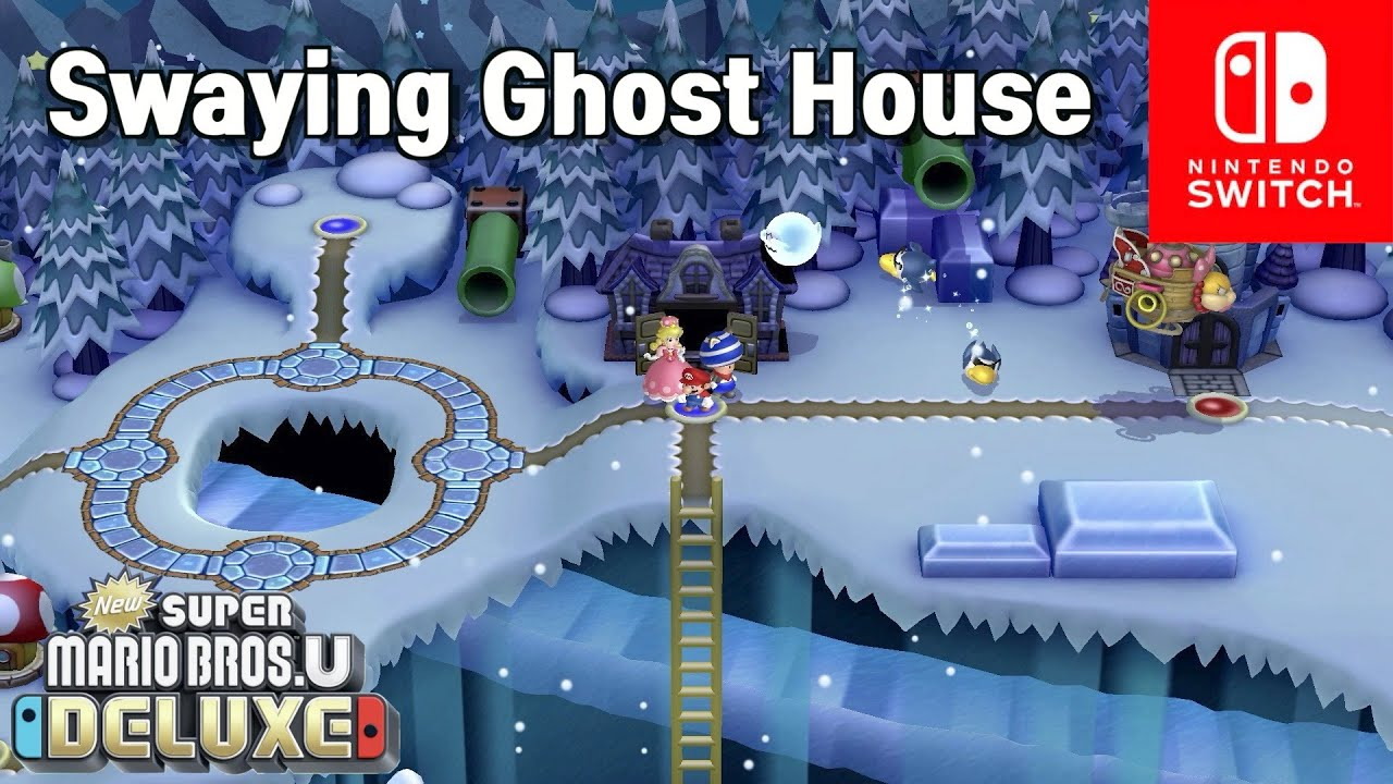 New Super Mario Bros  U Deluxe (3 players coop): Frosted glacier